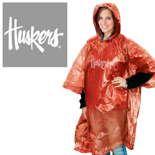 Nebraska Cornhuskers Rain Poncho
