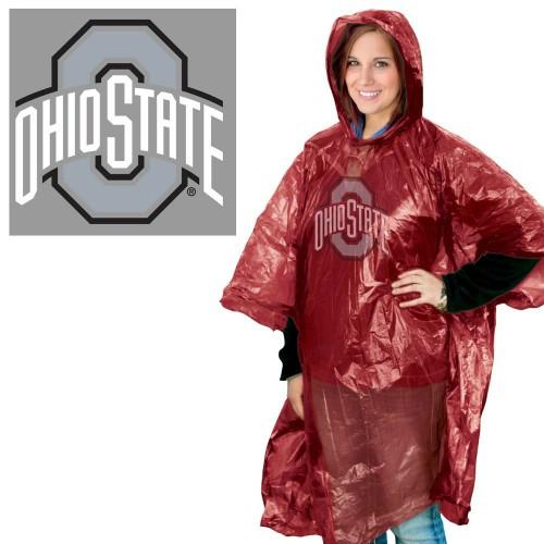 Ohio State Buckeyes Rain Poncho