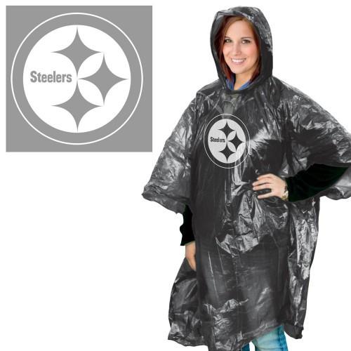 Pittsburgh Steelers Rain Poncho