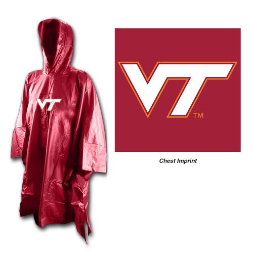 Virginia Tech Hokies Rain Poncho Special Order