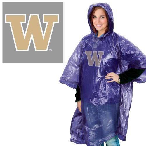 Washington Huskies Rain Poncho Special Order