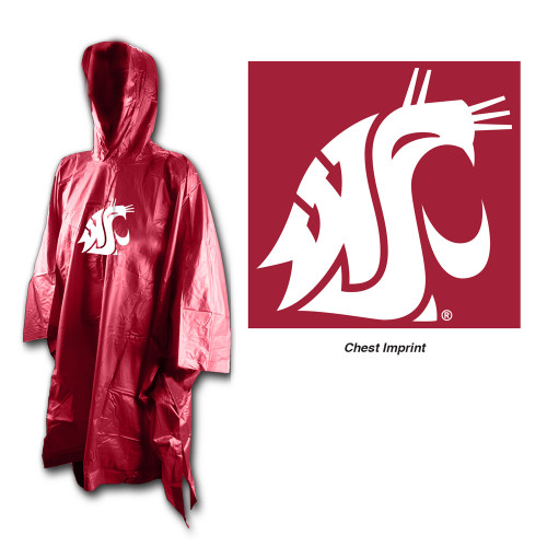 Washington State Cougars Rain Poncho Special Order