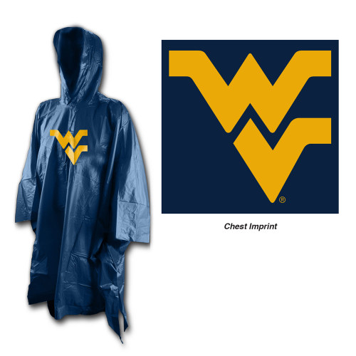 West Virginia Mountaineers Rain Poncho Special Order