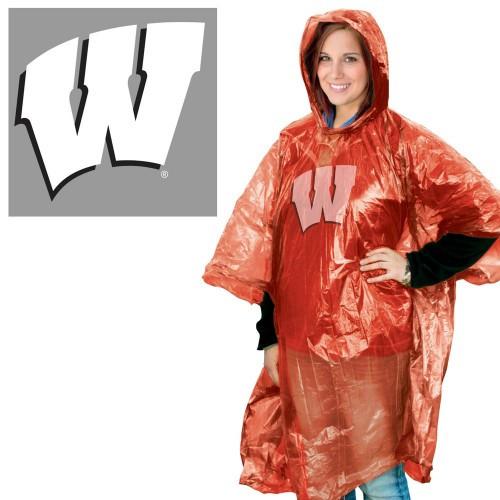 Wisconsin Badgers Rain Poncho