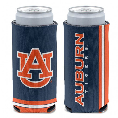 Auburn Tigers Can Cooler Slim Can Design Special Order