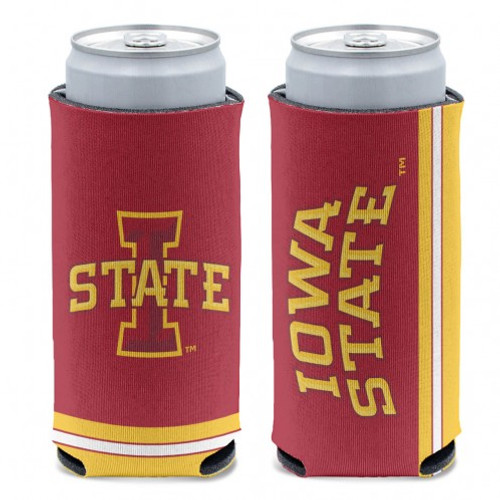 Iowa State Cyclones Can Cooler Slim Can Design Special Order