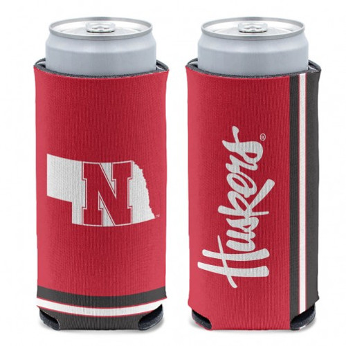 Nebraska Cornhuskers Can Cooler Slim Can Design Special Order