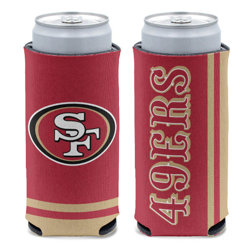 San Francisco 49ers Can Cooler Slim Can Design Special Order