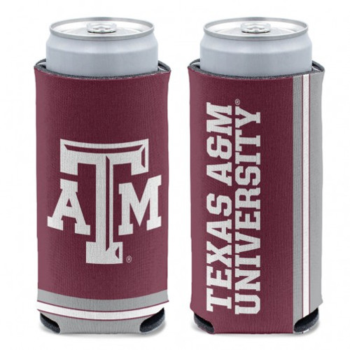Texas A&M Aggies Can Cooler Slim Can Design Special Order