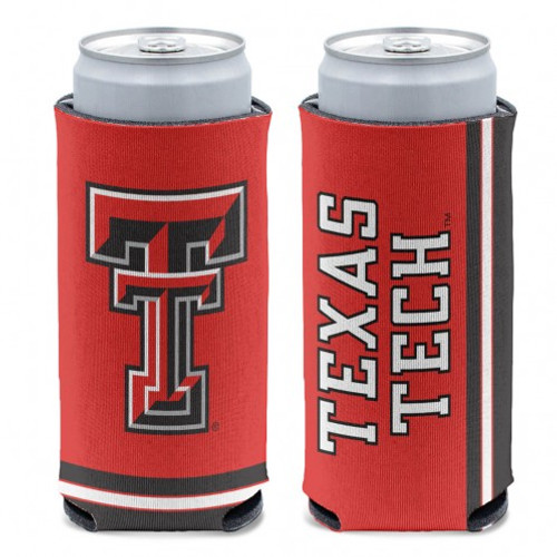 Texas Tech Red Raiders Can Cooler Slim Can Design Special Order