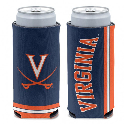 Virginia Cavaliers Can Cooler Slim Can Design Special Order