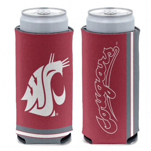 Washington State Cougars Can Cooler Slim Can Design Special Order