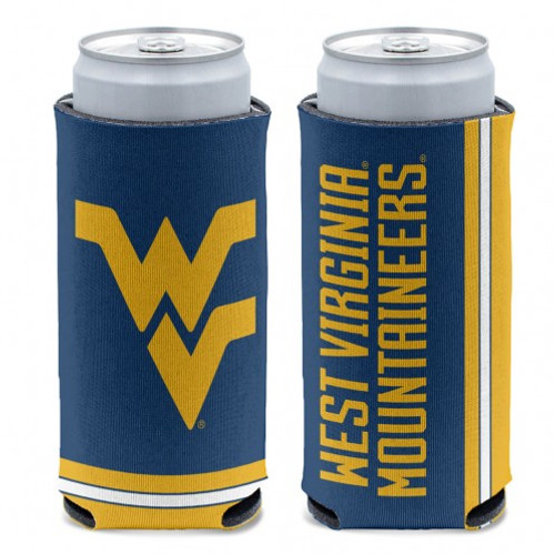 West Virginia Mountaineers Can Cooler Slim Can Design