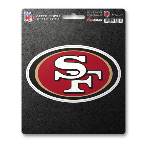 San Francisco 49ers Decal 8x8 Die Cut Matte Special Order