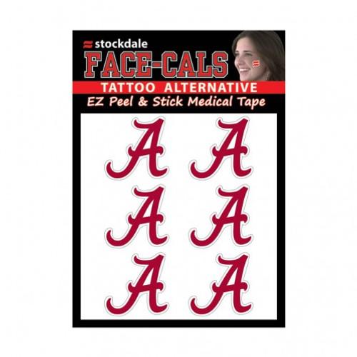 Alabama Crimson Tide Tattoo Face Cals