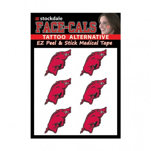 Arkansas Razorbacks Tattoo Face Cals