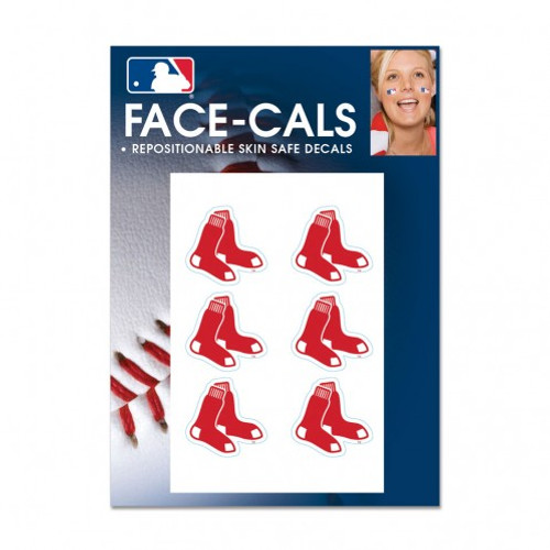 Boston Red Sox Tattoo Face Cals