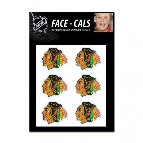 Chicago Blackhawks Tattoo Face Cals