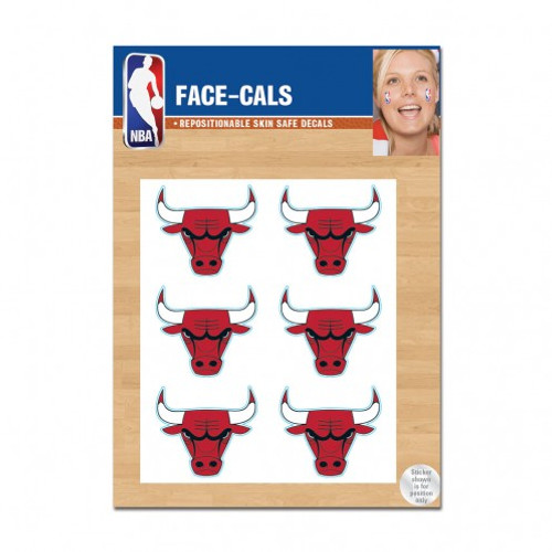 Chicago Bulls Tattoo Face Cals Special Order