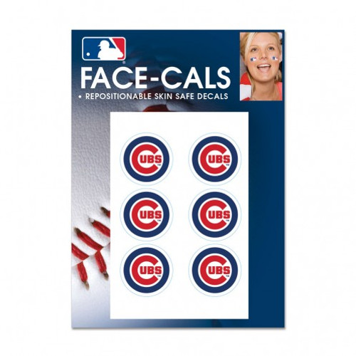 Chicago Cubs Tattoo Face Cals