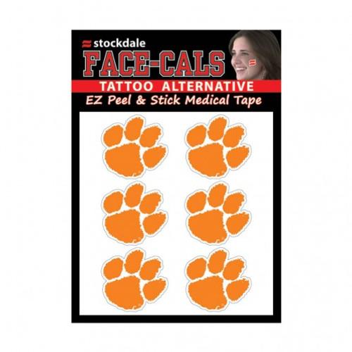 Clemson Tigers Tattoo Face Cals