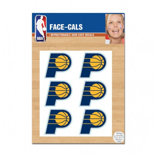 Indiana Pacers Tattoo Face Cals Special Order