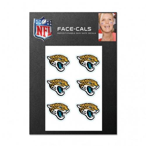 Jacksonville Jaguars Tattoo Face Cals