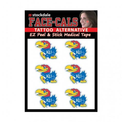 Kansas Jayhawks Tattoo Face Cals