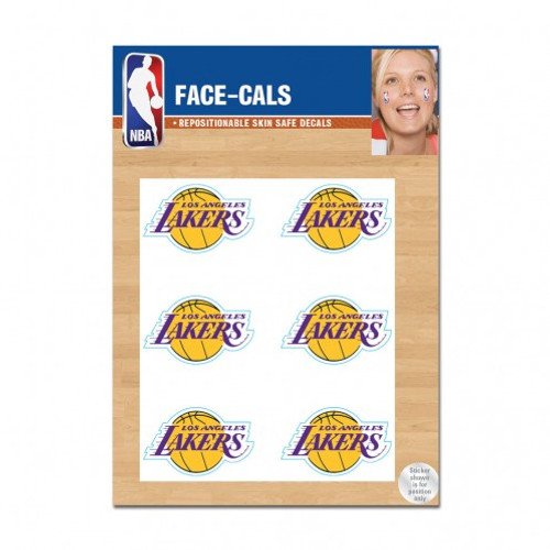Los Angeles Lakers Tattoo Face Cals