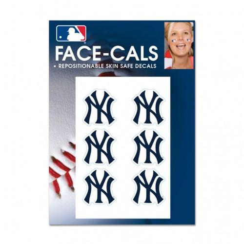 New York Yankees Tattoo Face Cals