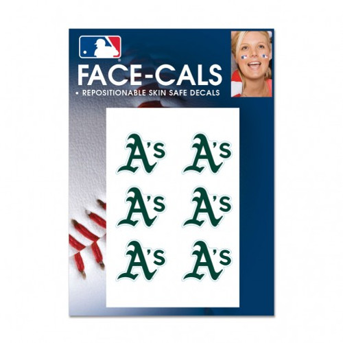 Oakland Athletics Tattoo Face Cals Special Order