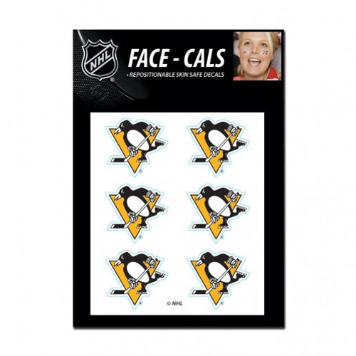 Pittsburgh Penguins Tattoo Face Cals