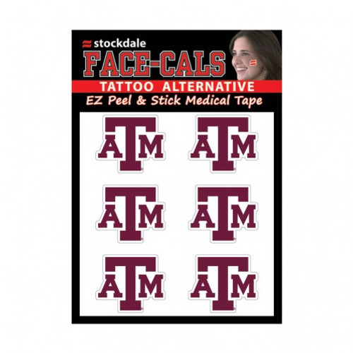 Texas A&M Aggies Tattoo Face Cals
