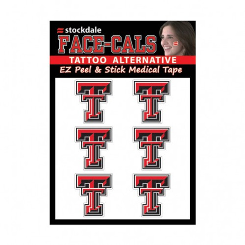 Texas Tech Red Raiders Tattoo Face Cals Special Order