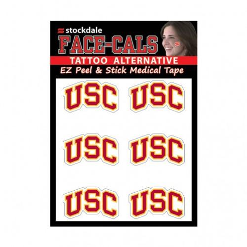 USC Trojans Tattoo Face Cals Special Order