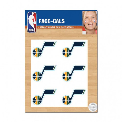Utah Jazz Tattoo Face Cals Special Order