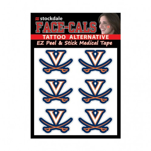 Virginia Cavaliers Tattoo Face Cals Special Order