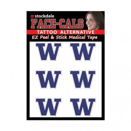 Washington Huskies Tattoo Face Cals Special Order
