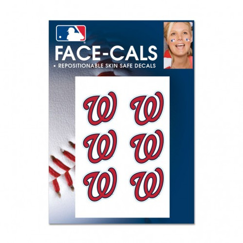 Washington Nationals Tattoo Face Cals Special Order