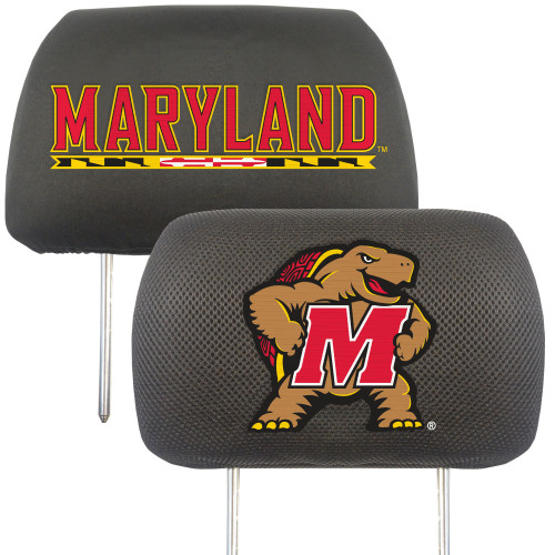 Maryland Terrapins Headrest Covers FanMats Special Order
