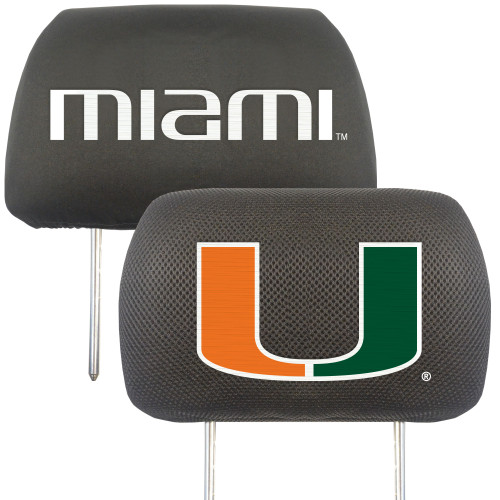 Miami Hurricanes Headrest Covers FanMats Special Order