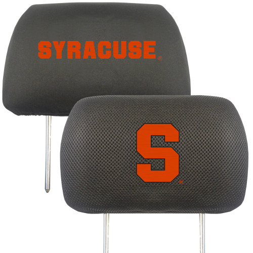Syracuse Orange Headrest Covers FanMats Special Order