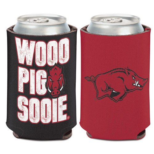 Arkansas Razorbacks Can Cooler Slogan Design Special Order