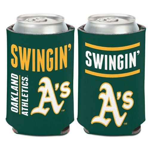 Oakland Athletics Can Cooler Slogan Design Special Order