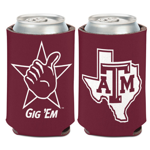 Texas A&M Aggies Can Cooler Slogan Design Special Order