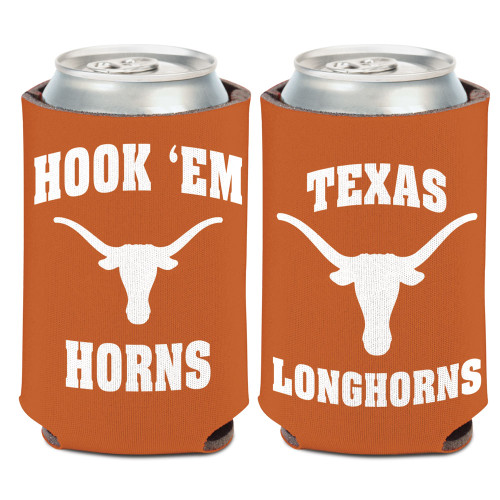 Texas Longhorns Can Cooler Slogan Design Special Order