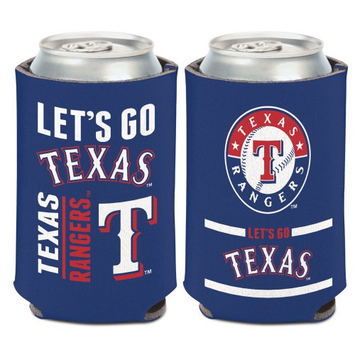Texas Rangers Can Cooler Slogan Design Special Order