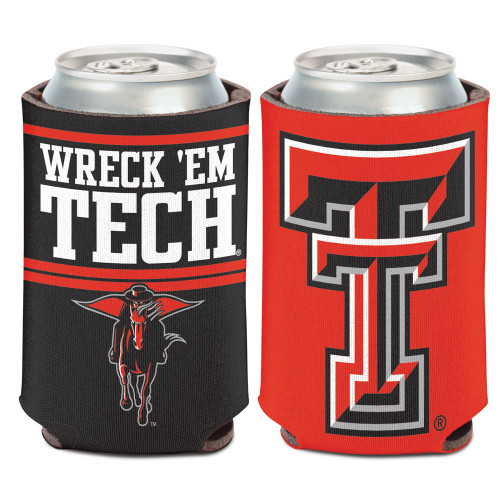 Texas Tech Red Raiders Can Cooler Slogan Design Special Order