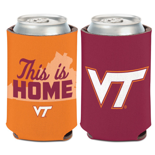 Virginia Tech Hokies Can Cooler Slogan Design Special Order