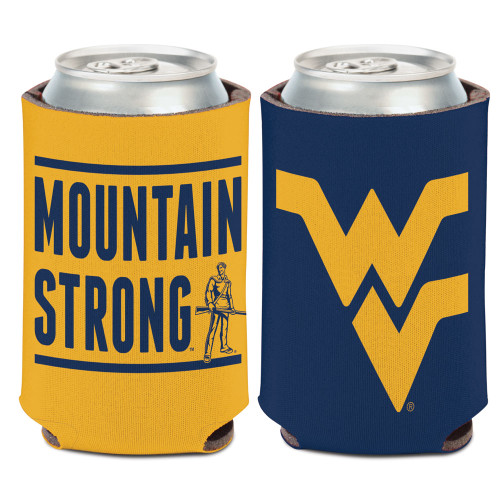 West Virginia Mountaineers Can Cooler Slogan Design Special Order